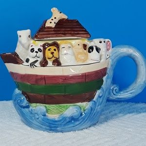Other - Vintage Noah's Ark Teapot Kitchen Kitch